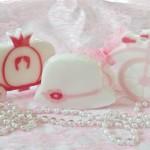 Μπομπονιέρες σαπουνάκια για ρομαντική βάπτιση