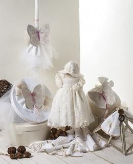 Βαπτισκά ρούχα με θέμα την πεταλούδα-Βαπτιστικά πακέτο