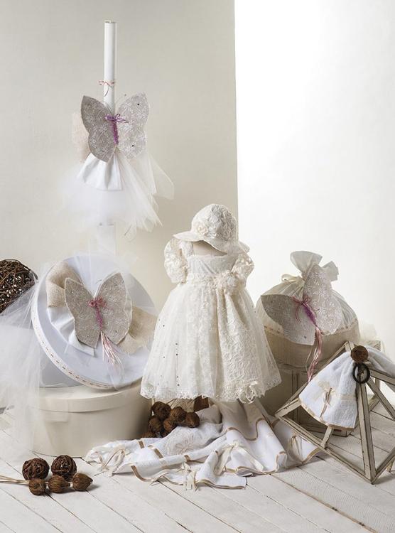 Βαπτισκά ρούχα με θέμα τη πεταλούδα-Βαπτιστικά πακέτο