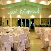 Γραφικό με Laser  σε γαμήλια δεξίωση