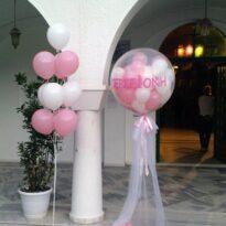Διακόσμηση βάπτισης με μπαλόνια bobos-club