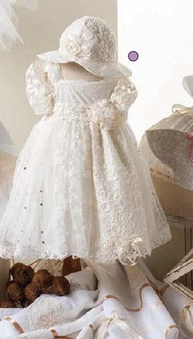 Βαπτιστικό φόρεμα σε εκρού απόχρωση