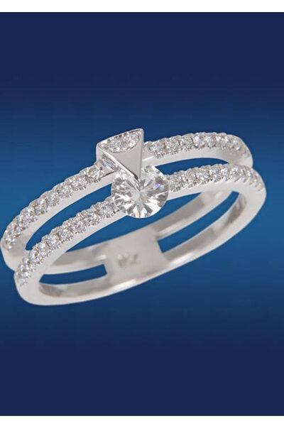 Δαχτυλίδη της σειράς Eternal Love Diamond, με κεντρικό διαμάντι που περιστρέφεται γύρω από τον άξονα της,