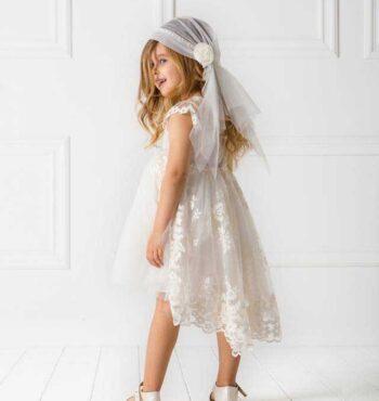 Ρομαντικο μοντερνο φορεμα βαπτισης