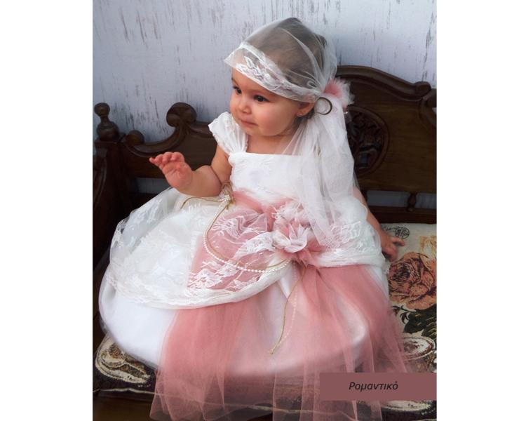 b73fd6161ee Ρομαντικό στυλ 2016-Βαπτιση Ρομαντικα βαπτιστικό ρούχα για κορίτσια